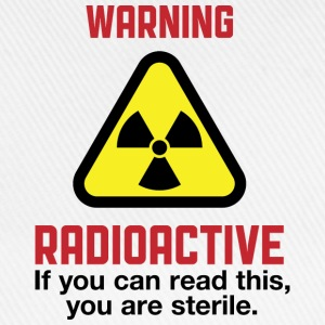 Warning Radioactive 2 (dd)++ T-shirts - Basebollkeps