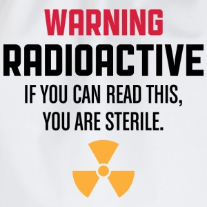 Warning Radioactive 1 (dd)++ T-shirt - Sacca sportiva