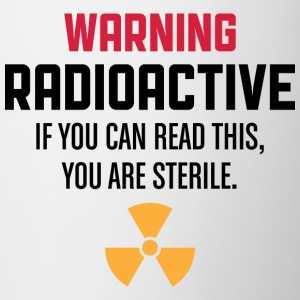 Warning Radioactive 1 (dd)++ Tee shirts - Tasse