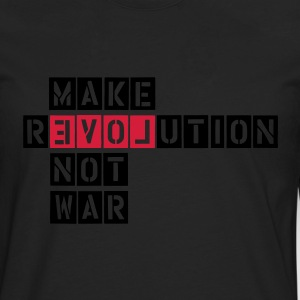 MAKE REVOLUTION NOT WAR T-shirts - Herre premium T-shirt med lange ærmer
