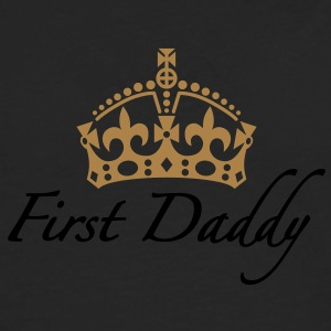First Daddy | Crown | Krone T-Shirts - Männer Premium Langarmshirt