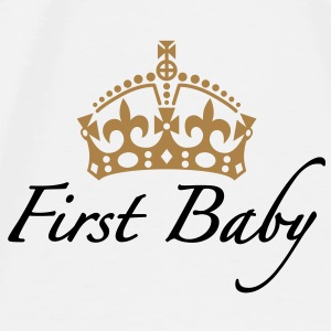 First Baby | Crown | Krone Accessoires - Camiseta premium hombre