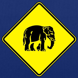 Caution Elephant Crossing Sign - Tote Bag