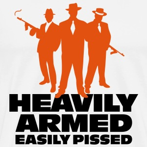 Heavily Armed 1 (2c)++  Aprons - Men's Premium T-Shirt