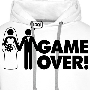 Game Over 2 (1c)++ Tee shirts - Sweat-shirt à capuche Premium pour hommes