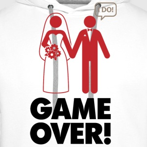 Game Over 1 (dd)++ T-Shirts - Men's Premium Hoodie