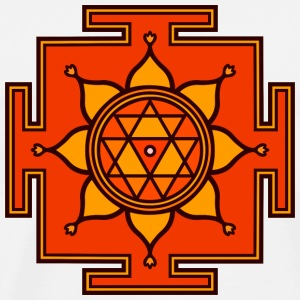 Durga Yantra Powerful Protection Symbol Bags  - Men's Premium T-Shirt