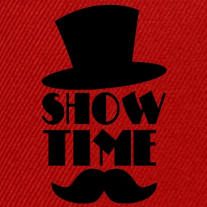 SHOW TIME clown circus hat and moustache  T-Shirts - Snapback Cap