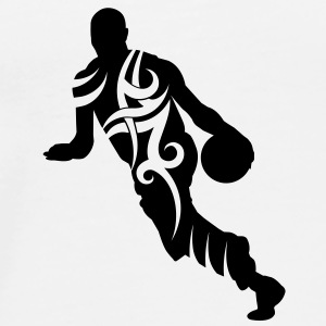Men basketball tribal - Herre premium T-shirt