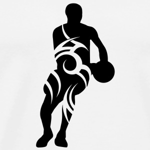 Men basketball tribal - Männer Premium T-Shirt