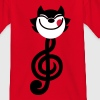 Cartoon Treble Clef Cat by Cheerful Madness!! Kids' Shirts - Teenage T-shirt