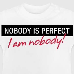 Nobody Is Perfect 1 (2c)++ Barneskjorter - Baby-T-skjorte