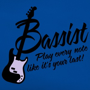 bassist play every note like its your last T-shirts - Retro-tas
