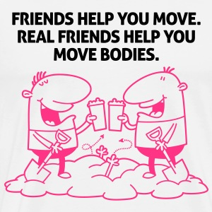 Real Friends Help 2 (2c)++ Tabliers - T-shirt Premium Homme