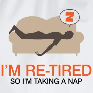 Retired Taking Nap 4 (dd)++ T-shirts - Sportstaske