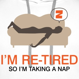 Retired Taking Nap 4 (dd)++ T-shirt - Felpa con cappuccio premium da uomo