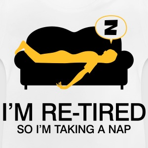 Retired Taking Nap 4 (2c)++ Børne T-shirts - Baby T-shirt