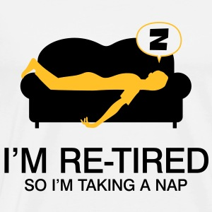 Retired Taking Nap 4 (2c)++ Pullover - Männer Premium T-Shirt