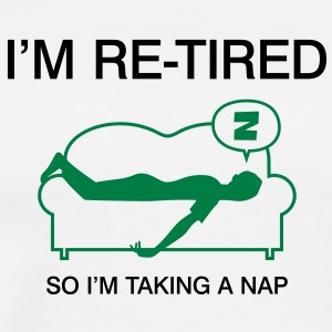 Retired Taking Nap 3 (2c)++ Tabliers - T-shirt Premium Homme