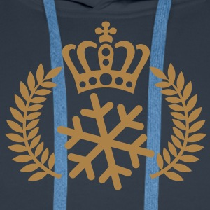 Schneekönig | Schneekönigin | King of Snow | Queen of Snow T-Shirts - Sweat-shirt à capuche Premium pour hommes