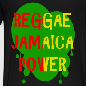 reggae jamaica power Hoodies - Men's Premium T-Shirt