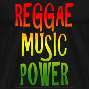 reggae music power Väskor - Premium-T-shirt herr