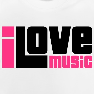 I Love Music Kids' Shirts - Baby T-Shirt