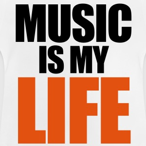 Music Is My Life Kinder shirts - Baby T-shirt