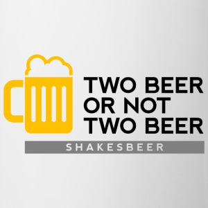 Two Beer Shakesbeer 2 (dd)++ T-shirt - Tazza