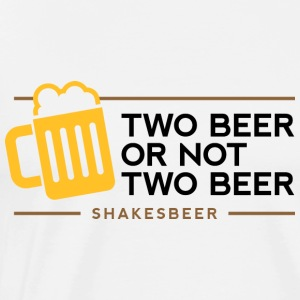 Two Beer Shakesbeer 1 (dd)++ Gensere - Premium T-skjorte for menn