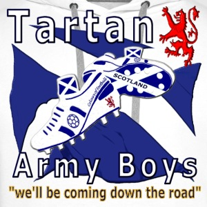 tartan army boys_coming  T-Shirts - Men's Premium Hoodie