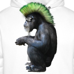 chimpanzé néo punk by customstyle - Sweat-shirt à capuche Premium pour hommes