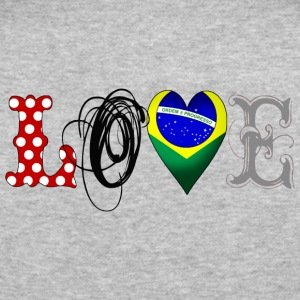 Love Brazil Black - Männer Slim Fit T-Shirt