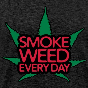 smoke weed every day Tröjor - Premium-T-shirt herr