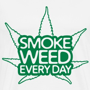 smoke weed every day Sweatshirts - Herre premium T-shirt