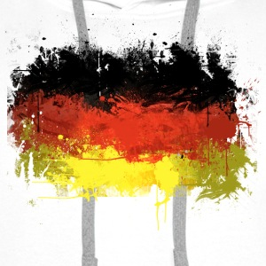 German Flag Graffiti - Men's - Men's Premium Hoodie