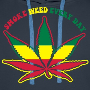 smoke weed every day T-Shirts - Men's Premium Hoodie
