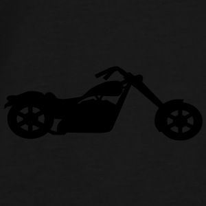 Silver metallic chopper motorcycle on black back pack - Men's Premium T-Shirt
