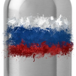 Russian Flag Graffiti - Water Bottle