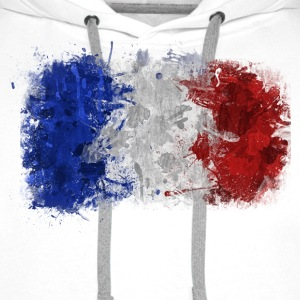 French Flag Graffiti - Men's Premium Hoodie