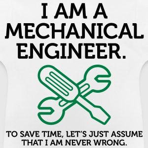 I Am A Mechanical Engineer 2 (2c)++ Børne T-shirts - Baby T-shirt