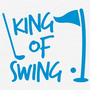 KING of SWING golf fun design with a ball club and a flag Underwear - Men's Premium T-Shirt