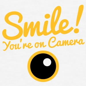 smile!  you're on camera with a camera lens Underwear - Men's Premium T-Shirt