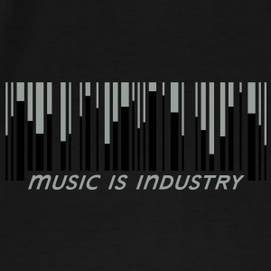 Music is industry Tasker - Herre premium T-shirt