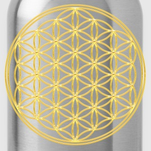 FEEL THE ENERGY, Flower of Life, Gold, Sacred Geometry, Protection Symbol, Harmony, Balance Camisetas - Cantimplora
