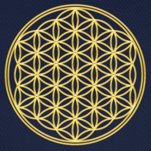 FEEL THE ENERGY, Flower of Life, Gold, Sacred Geometry, Protection Symbol, Harmony, Balance Tee shirts - Casquette classique