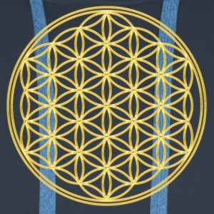 FEEL THE ENERGY, Flower of Life, Gold, Sacred Geometry, Protection Symbol, Harmony, Balance Tee shirts - Sweat-shirt à capuche Premium pour hommes