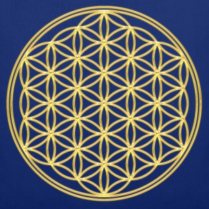 FEEL THE ENERGY, Flower of Life, Gold, Sacred Geometry, Protection Symbol, Harmony, Balance Tee shirts - Tote Bag