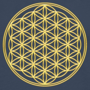 FEEL THE ENERGY, Flower of Life, Gold, Sacred Geometry, Protection Symbol, Harmony, Balance Tee shirts - T-shirt manches longues Premium Homme