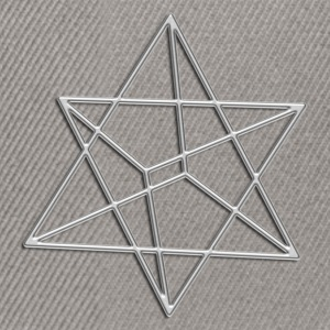 Merkaba, 3D, silver, divine light vehicle, sacred geometry, star tetrahedron, flower of life T-Shirts - Snapback Cap